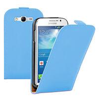 Cover Custodia PU Vero Falda Blu Samsung Galaxy Grande Plus / Neo / Lite I9060
