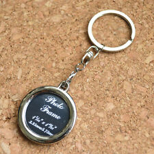 Creative Insert Picture Photo Frame Round Keyring Keychain Novelty Gift A2