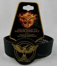 New The Hunger Games Mockingjay Part 1 Logo Die-cut Rubber Bracelet Wristband