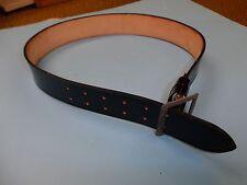 b3892 WW2 German Officers Black Leather Belt