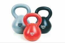 MuscleSquad 3, 5 and 8kg Vinyl Kettlebell Weight Set