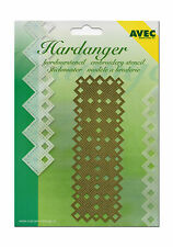 Avec Hardanger Embroidery Stencil Template Check Pattern (e-018) NEW & OVP