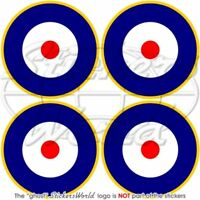 """RAF Royal Air Force Type A2 Roundel 50mm/2"""" Stickers x4"""