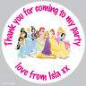 24x Large Personalised Princess 63mm Birthday Stickers Party Bag Sweet Cone 180