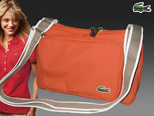 LACOSTE Womens Across the body Shoulder Bag Casual 2.6 Pumpkin AUTHENTIC