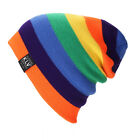 Men Women Unisex Wool Knit Knitted Winter Hat Ski Skull Cap Rainbow Hip-Hop Hats