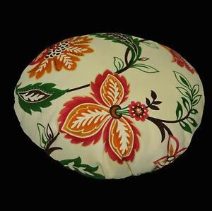 Flat Round Shape Cover*A-Grade Cotton Canvas Floor Seat Chair Cushion Case*Lf4