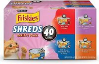 Purina Friskies Canned Wet Cat Food Shreds in Gravy Variety 40 ct. Variety Packs