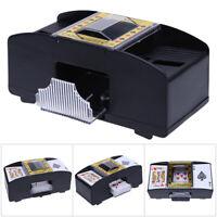 Kartenmischer 2 Decks Poker elektrische Kartenmischmaschine Mischmaschine EU #OS