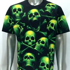 Glow in Dark Cotton T-shirt r190 Rock Eagle SPECIAL Tattoo Casual Haunted Skull