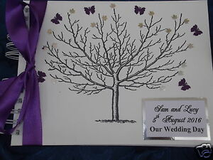 PERSONALISED WEDDING PHOTO ALBUM (TO MATCH FINGERPRINT TREE & GUEST BOOK )
