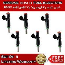 Set Of 6 Genuine Fuel Injectors for BMW 128i 328i X3 X5 525i Z4 3.0L #7531634