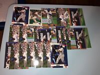 Andruw Jones Lot of 24 (Base) 6 Different Cards Braves, Dodgers