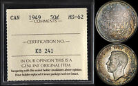 CANADA 50 CENTS 1949 (ICCS MINT STATE 62) *BEAUTIFULLY TONED*