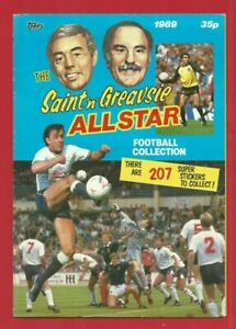TOPPS - SAINT 'n' GREAVSIE ALL STAR FOOTBALL STICKER ALBUM - VGC - EMPTY (RV01)