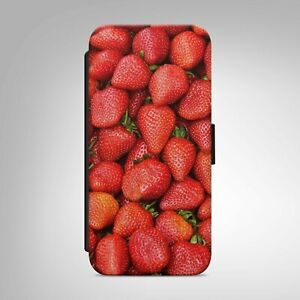 Strawberry Print Pattern WALLET PHONE CASE COVER FOR IPHONE SAMSUNG HUAWEI  b309