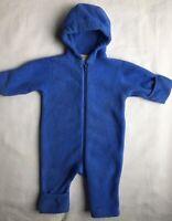 Snowsuit size 3 6 Months Lands' End One Piece baby bunting Coat Blue Fleece Boys