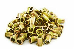 100 Piece Rivet Nut Rivnut Inserts Nutsert 5/16-18 Blind Rivets Steel Rivnuts...