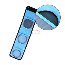 Dustproof 3-slot Lens Filter Bag Storage Pouch For 37mm - 82mm UV Filter SR