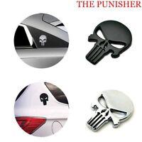 The Punisher Motorcycle Emblem Metal Decal Devil Skull 3D Car Sticker Badge