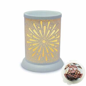 Starburst Electric wax burner  (tart warmer) with light & scrumptious scents