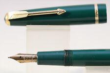 Vintage (c1958) Parker Duofold Slimfold Extra Fine Fountain Pen, Dark Green