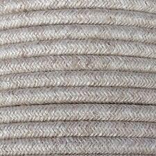 3 Core 0.75mm rotonda naturale intrecciato vintage lino tessuto ELETTRICO CAVO FLESSIBILE