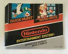 Duck Hunt and Super Mario Bros.- Instruction Booklet Manual Only - Nintendo NES