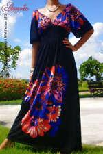 Full Length Polyester 3/4 Sleeve Dresses for Women