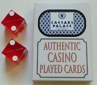 CAESARS PALACE Las Vegas Casino Hotel - Deck of Playing Cards & Pair of Dice