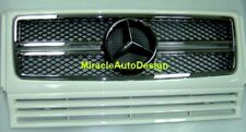 G63 LOOK WHITE (#650) FRONT GRILLE SET FOR 1990-2013 MERCEDES BENZ W463 G-CLASS
