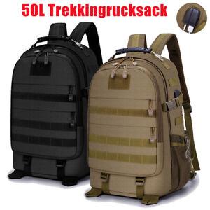 50L Trekkingrucksack Wasserdicht Wanderrucksack Taktische Sport Tasche Backpack