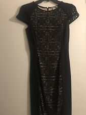 NWOT Black Fitted Dress Knee Length H&M Sz Xs