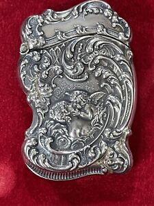 Vintage Antique Unger Bros Love's Dream Vesta Match Safe Box Sterling Silver