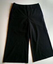ESPRIT Women's Black Crop Capri Trouser Pants Size 4 Stretch Cotton Blend GUC