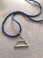 30 secondi per MARS triade Triangolo Tono Argento Blu CORDA COLLANA Echelon