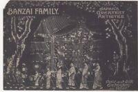 Banzai Family, Gold & Silk Embroidery Japan's Greatest Artistes Postcard B731