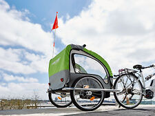 FISCHER Children's Bicycle trailer COMFORT with Suspension & LED lighting 86388