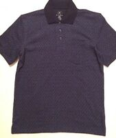 George Men's Polo Shirt Large 42-44 Short Sleeves Navy, blue New
