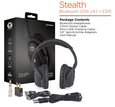 HyperGear Stealth Active Noise Cancelling BT Wireless HD Stereo Headphones W/Mic