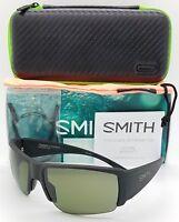 NEW Smith Captain's Choice Sunglasses Black ChromaPop Polarized Gray Green $219