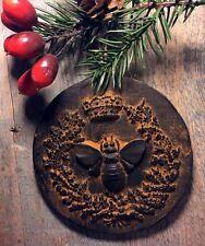 Queen Bee Beeswax Blackened Ornament Cinnamon Scented Folk Art PRiMiTiVE Ornie