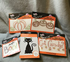 New listing 4 Tulip Glam-It-Up! Iron-On Fashion Designs Pumpkins Boo Got Candy + Black-Cat