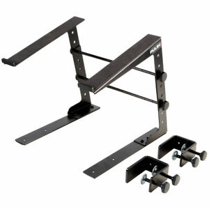 Pulse universal laptop stand, ideal for DJs and musicians w/ desk clamps