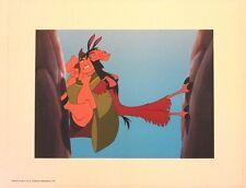 "Disney Art Print Lithograph 11""x14"" Emperor's New Groove Pacha and Kuzco Llama"