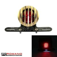 Motorcycle Retro Taillight Mount Brass Light Grill Cover For Harley-Davidson Hot