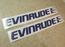 """Evinrude Vintage Outboard Motor Decal 12"""" 2-PK FREE SHIP + FREE Bass Fish Decal!"""