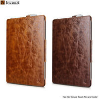 NEW Luxury ICARER GENUINE Leather Folio Case Cover For Microsoft Surface Pro 4