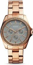 NEW AND authentic JANICE MULTIFUNCTION ROSEGOLD-ONE STAINLESS STEEL WATCH BQ3418