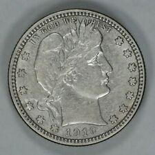 1916 D BARBER QUARTER 25C AU ABOUT UNCIRCULATED (8566)
